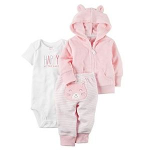 Carter's -  3 Piece Terry Cardigan Set